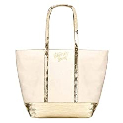 Sequin Sparkle Tan Tote Bag