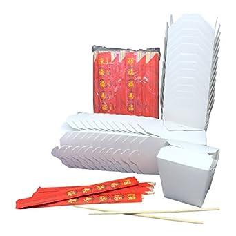 Comida China sacar contenedor bolso de mano. 48-pint tamaño chino ...