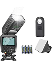 Neewer NW561 Speedlite Flash Kit for Canon Nikon Pentax and Sony with Mi Hot Shoe Cameras, Include:NW-561 Flash + Flash Diffuser + Remote Control + Batteries