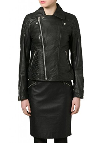 Leather Leather Leather Nero Junction Junction Donna Donna Giacca Nero Junction Giacca qwZSqUxR