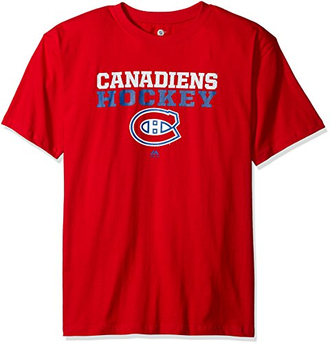 [NHL Vancouver Canucks Men's Short Sleeve Screen Print T-Shirt, 3X/Tall, Red] (Vancouver Canucks Short Sleeve Shirt)