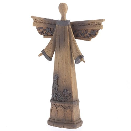 factory direct craft carved look wood look resin angel figurine for christmas decoration religious gift sympathy - Angel Decorations