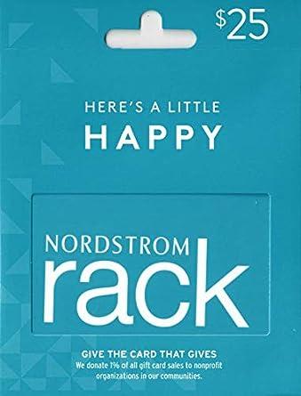 373c22efaf Amazon.com: Nordstrom Rack Gift Card $25: Gift Cards