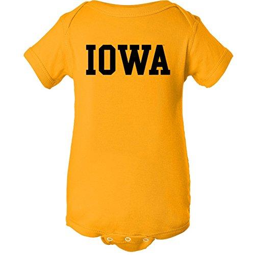 Iowa Hawkeyes Basic Creeper - Newborn - Gold
