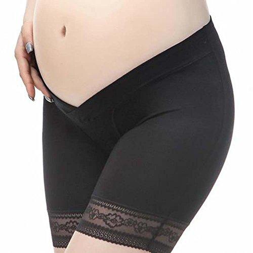 VIGOO 3PCS Cotton Maternity Pregnant Mother Panties Lingerie Briefs Underpants Underwear (Label L/US M, 3 Pack(Black/Beige/White)) by VIGOO (Image #4)