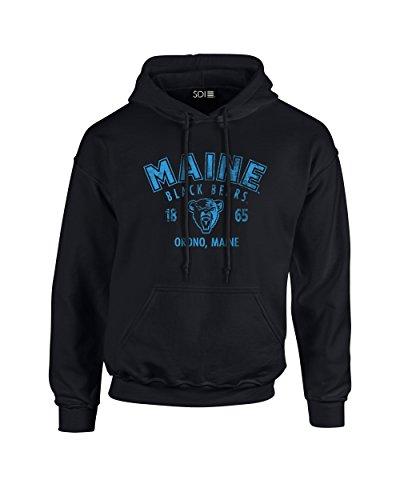 - SDI NCAA Maine Black Bears Arch 50/50 Blended 8 oz Hooded Sweatshirt, Medium, Black