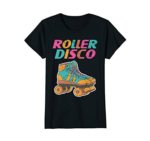 Womens Cool Vintage Roller Disco Retro 70s and 80s party Medium (70s And 80s Clothes Fashion)