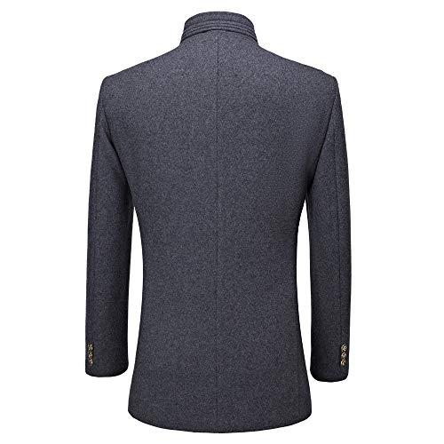 Gray coat Masculine Shennanji En Laine La Mode Décontractée Trench À 1U4Tzwq