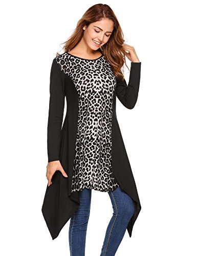 cheetah print dress long sleeve - 2