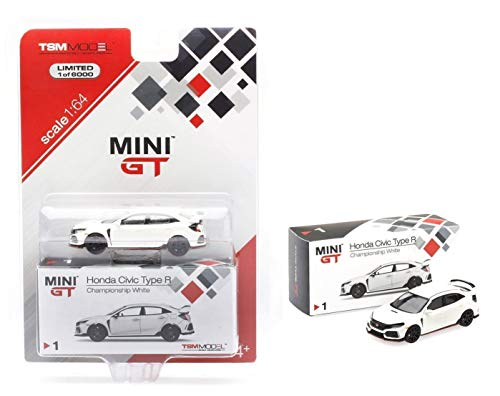 (Honda Civic Type R (FK8) Left-Hand Drive Championship White Limited Edition to 6,000 Pieces Worldwide 1/64 Diecast Model Car by True Scale Miniatures)