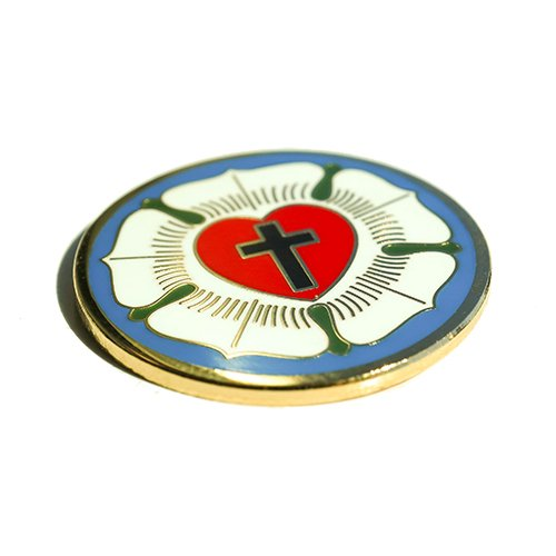 Luther Rose Seal Lutheran Symbol Christian Cross Gold Enamel