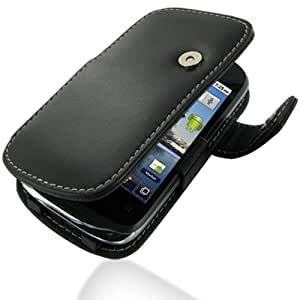 PDair Leather Case for Huawei Sonic U8650 - Book Type (Black)