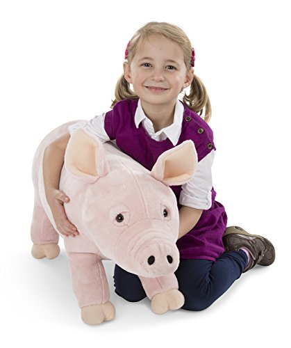 Melissa & Doug Giant Pig - Lifelike Stuffed Animal (over 2 feet long) -