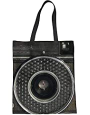 Trendy generous super cute 3D Camera Pattern Canvas Shoulder Hand Bag Travel Bag for Women(Grey),Colour Name:3d camera print-3 (Color : 3d camera print-1)
