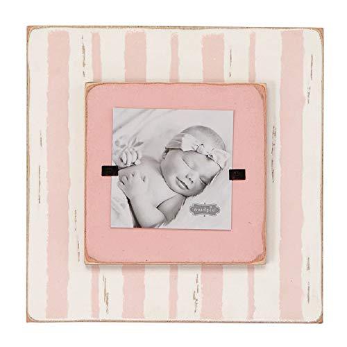 Mud Pie Layered Stripe Pink Frame (Frame Pie Wood Mud Picture)