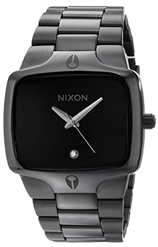 NIXON Player A140 - All Black - 100m Water Resistant Men's Analog Fashion Watch (40mm Watch Face, 26.5mm-20mm Stainless Steel Band) (Player Nixon Black)
