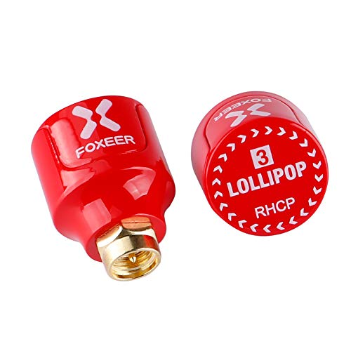 2pcs Foxeer Lollipop V3 FPV Antenna Stubby 5.8G RHCP Antenna SMA Male For RC Drone FPV Quadcopeter Multicopter TX/RX ()