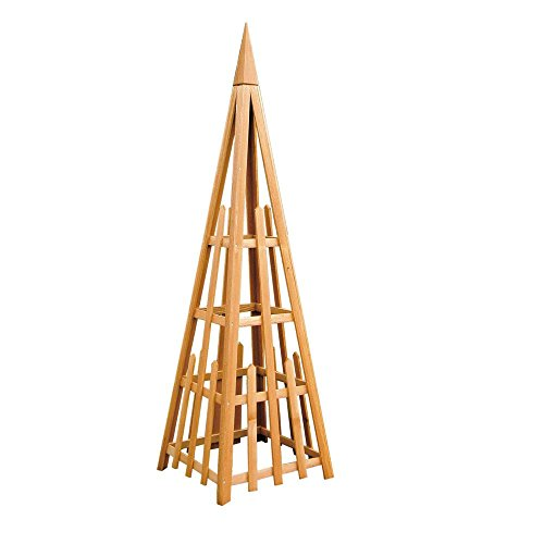 Phat Tommy Outdoor Patio & Garden Pyramid Trellis Your Lawn & Backyard Needs, Made in The USA ()