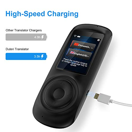 MORTENTR Translator Device Smart Voice Translator with 2.4inch HD Touch Screen Support 70 Languages for Learning Travel Business Shopping by MORTENTR (Image #4)