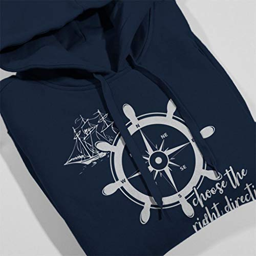 Choose Choose Choose Hooded Women's City Blue Direction Navy Navy Navy Sweatshirt Right 7 The Sailing Cloud E8xqC6