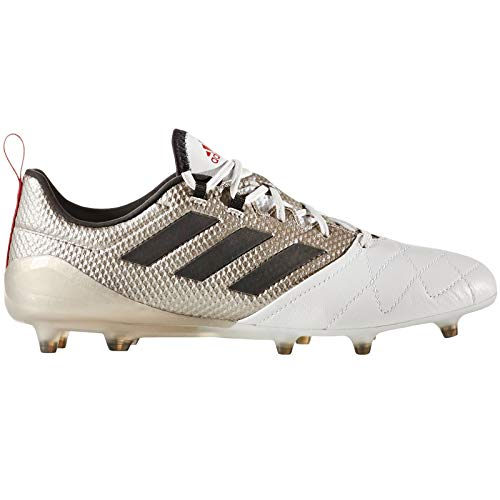 adidas Ace 17.1 FG Womens Leather Soccer Boots/Cleats-Silver-9