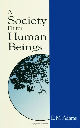 A Society Fit for Human Beings (S U N Y Series in Constructive Postmodern Thought)