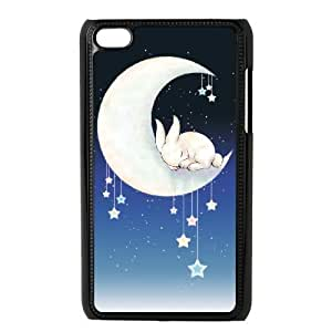 Customized Durable Case for Ipod Touch 4, Moon Bunny Phone Case - HL-R687984
