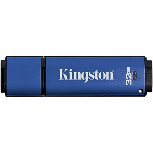 Kingston Digital 32GB Data Traveler AES Encrypted Vault Privacy 256Bit 3.0 USB Flash Drive (DTVP30/32GB) by Kingston
