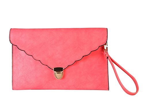 rimen-co-pu-leather-envelope-clip-closure-wrist-clutch-womens-purse-handbags-bw-1612-coral