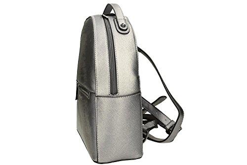 Tasche damen rucksack schulter PIERRE CARDIN silber mit offnung zip VN995