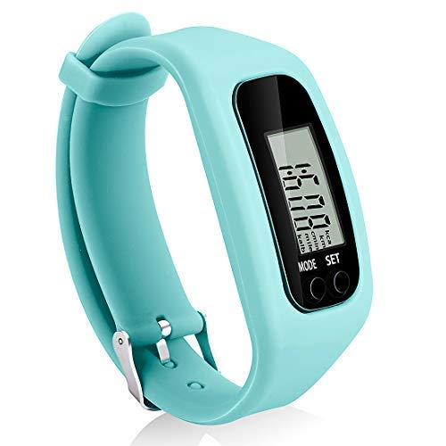 Bomxy Fitness Tracker Watch, Simply Operation Walking Running Pedometer with Calorie Burning and Steps Counting (Mint)