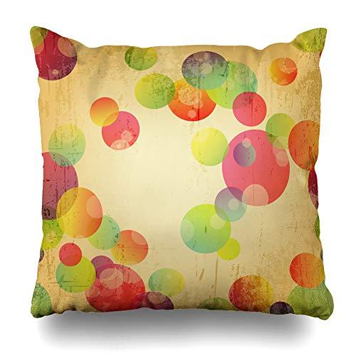 Suesoso Decorative Pillows Case 18 X 18 Inch Retro Colorful Throw Pillowcover Cushion Decorative Home Decor Garden Sofa Bed Car]()