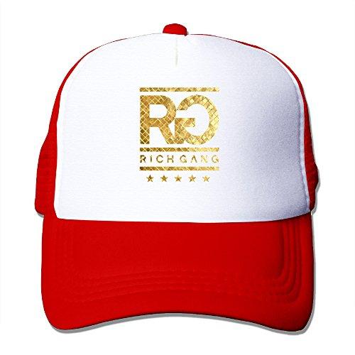 Price comparison product image Baboy Rich Gan Baseball Hat Lightweight Mesh Snap Back CapRed