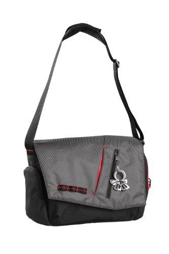 Okiedog 24212 Samurai - Bolso para pañales y cambiador, color gris y negro