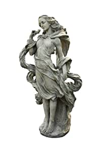 Napco Girl In The Wind Garden Statue, 36-Inch Tall