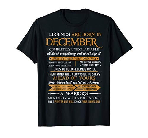 Legends Are Born In December Vintage Perfectly T-Shirt