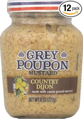 amazon com grey poupon country dijon mustard 8 oz pack of 12