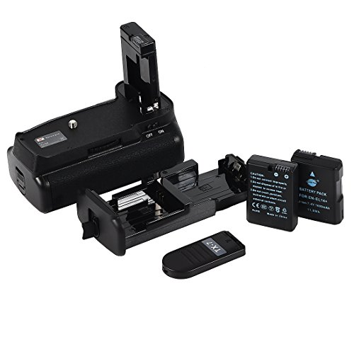 DSTE Multipower IR remote Battery Grip MB-D3400 + 2x EN-EL14 EN-EL14a for Nikon D3400 Digital SLR Camera by DSTE