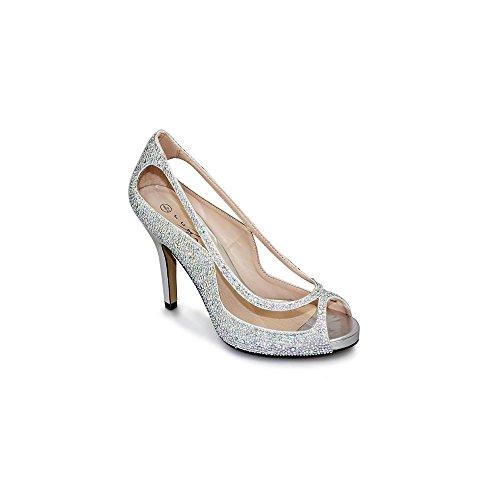 Griffith Park Rachel/FLR243 - Zapatos de tacón para mujer plata
