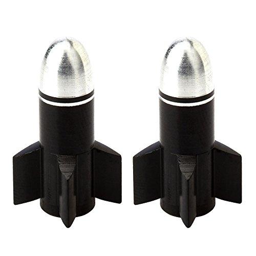 AKI WORLD(アキワールド) VALVE CAP ROCKET BLACK OT-FR-051