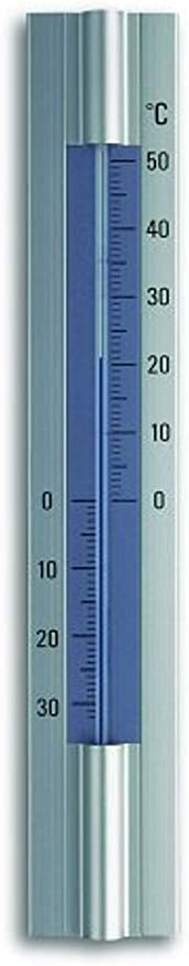 TFA Thermom/ètre dint/érieur en ch/êne avec /échelle en Aluminium