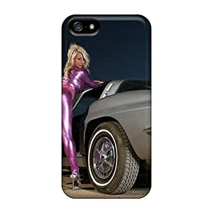 Shockproof/dirt-proof Stingray Pink Lady Cover Case For Iphone(5/5s)