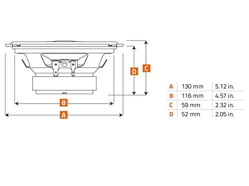 Heck Hertz Uno Lautsprecher X130 13cm 320W inkl Einbauset f/ür Alfa Romeo Spider 1990-2006 T/üren hinten