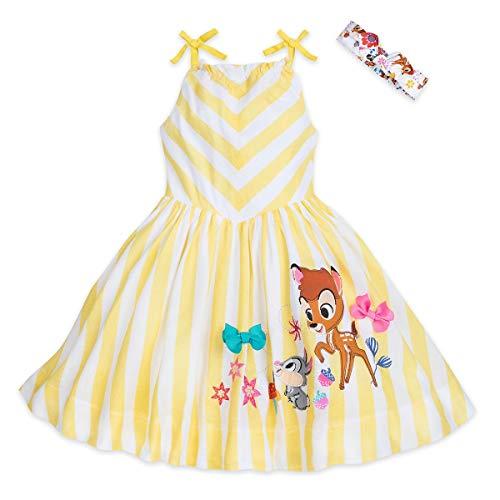 Disney Bambi Sundress for Girls Furrytale Friends Size 4T Yellow