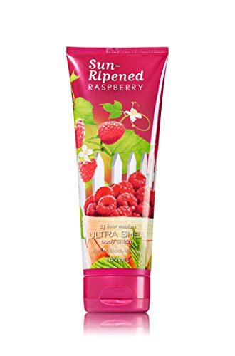 Body Leaves Cream (Bath & Body Works Signature Sun Ripened Raspberry Body Cream 8 oz)