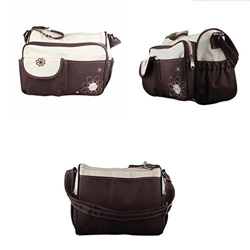 CN Multifunktionale Mode Mamabeutel Kleine Mutter Tasche,Blue Brown