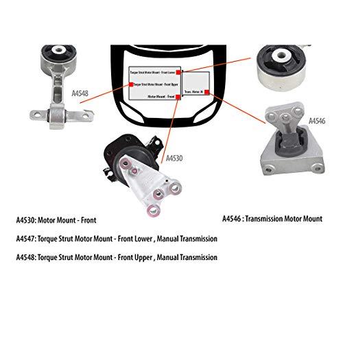 DNJ MMK1000 Complete Engine Motor & Transmission Mount Kit for 2006-2010 / Honda/Civic / 1.8L / 4PCS / Manual ()