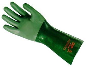 Ansell Size 10 Green Scorpio 14 Quot Interlock Knit Lined 30