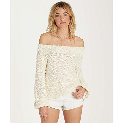 Billabong Womens Furget Me Not Sweater White Cap