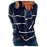Hengshikeji Womens Sweatshirts Crewneck Long Sleeve